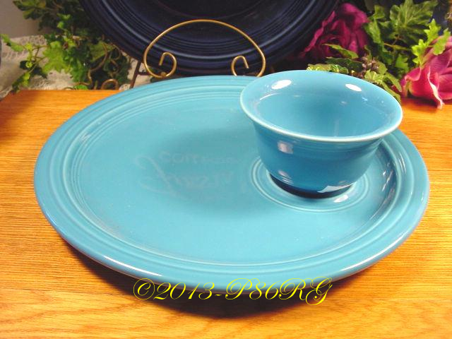 Fiesta® Welled Snack Plate with Bouillon in Peacock