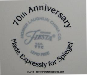70th Anniversary luncheon back stamp