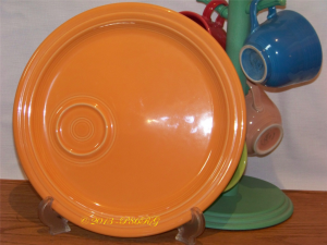 Fiesta® Welled Snack Plate in Tangerine