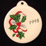 1998 Holly Ribbon Fiesta® Ornament