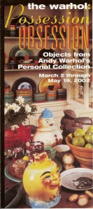 Andy Warhol Museum Brochure - Fiesta® dinnerware in back ground