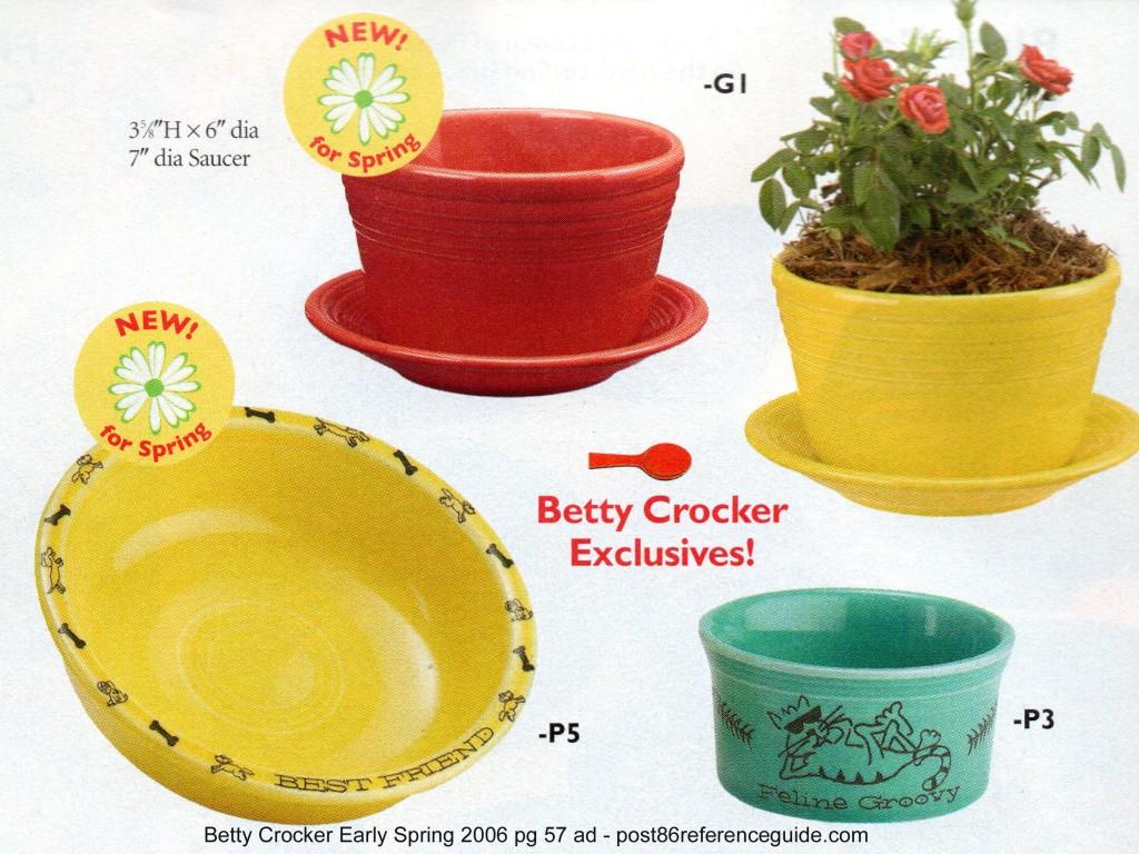 Betty Crocker Early Spring 2006  pg 57 - planters best friends feline groovy rg