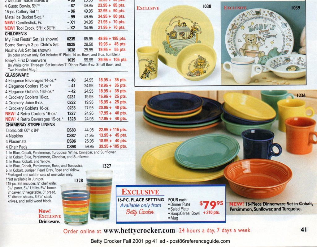Betty Crocker Fall 2001 Pg 41 - Noahs Ark-Babys 1st-16 pc place set rg (Large)