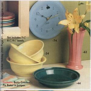 Betty Crocker Holiday 2000 Juniper Pie Baker rg (Large)