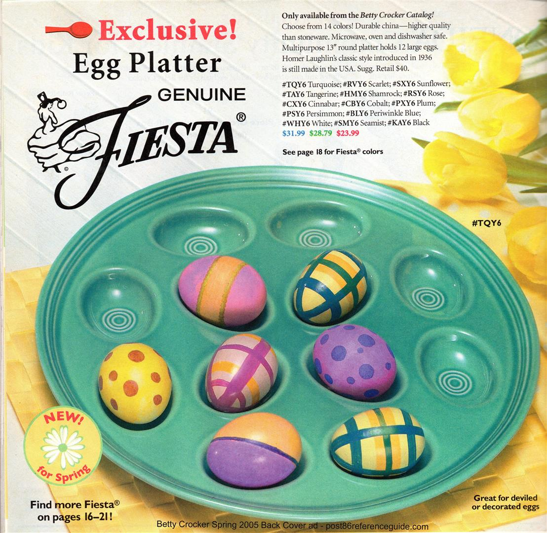 Betty crocker exclusives post 86 reference guide betty crocker spring 2005 back cover egg tray rg large nvjuhfo Choice Image