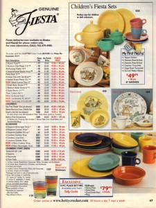 Betty Crocker Expires 8-31-2002 - Fiesta® Child's Tea Set