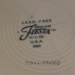 Fiesta® Early Version Lead Free Back Stamp