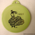 1999 Chartreuse Dancing Lady Fiesta® Ornament