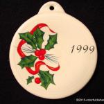 1999 Holly Ribbon Fiesta® Ornament