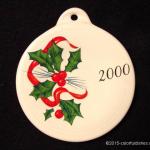 2000 Holly Ribbon Fiesta® Ornament