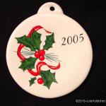 2005 Holly Ribbon Fiesta® Ornament
