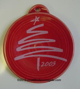 Fiesta® 2005 Scarlet Prototype Christmas Ribbon Tree
