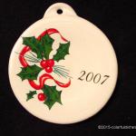 2007 Holly Ribbon Fiesta® Ornament