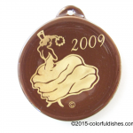 2009 Dancing Lady on Chocolate Fiesta® Ornament