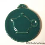 2009 HLCCA Embossed Teapot Evergreen Fiesta® Ornament