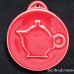 2009 HLCCA Embossed Teapot Scarlet Fiesta® Ornament