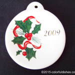 2009 Holly Ribbon Fiesta® Ornament