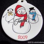 2009 Snowmen Fiesta® Ornament