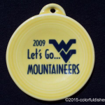 2009 WV Let Go Mountaineers Fiesta® Ornament
