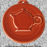 2011 HLCCA Embossed Teapot Paprika Fiesta® Ornament