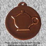 2012 HLCCA Embossed Teapot Chocolate Fiesta® Ornament