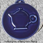 2012 HLCCA Embossed Teapot Cobalt Fiesta® Ornament