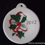 2012 Holly & Ribbon Fiesta® Ornament