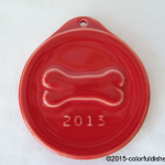 2013 Embossed Bone Scarlet Fiesta® Ornament