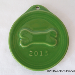2013 Embossed Bone Shamrock Fiesta® Ornament