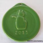 2013 Embossed Cat Shamrock Fiesta® Ornament