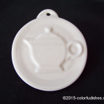 2013 HLCCA Embossed Teapot White Fiesta® Ornament
