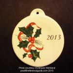 2013 Holly Ribbon Fiesta® Ornament