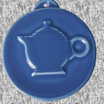2014 HLCCA Embossed Teapot Lapis Fiesta® Ornament