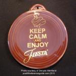 2015 Keep Calm on Cinnabar  Fiesta® Ornament