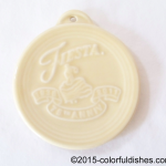 2011 Embossed 75th Annivesary - Ivory Fiesta® Ornament