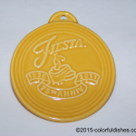 2011 Embossed 75th Annivesary - Marigold Fiesta® Ornament