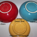 Fiesta® Bistro Dessert Salad Bowl Comparison Bases