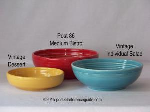 Fiesta® Bistro Dessert Salad Bowl Comparison