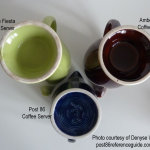 Fiesta® Coffee Servers - Vintage - Ironstone - Post 86 Bases
