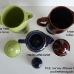 Fiesta® Coffee Servers - Vintage - Ironstone - Post 86 Top View