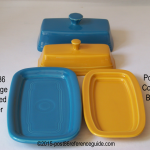 Fiesta® Covered Butter Comparison  Pieces
