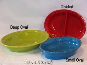 Fiesta® Deep Small Divided Bowls