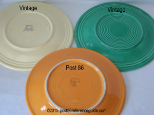 Fiesta® Dinner Plate Comparison