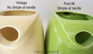 Fiesta® Disk Pitcher Dimple Comparison