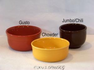 Fiesta® Gusto Chowder Chili Bowls Comparison