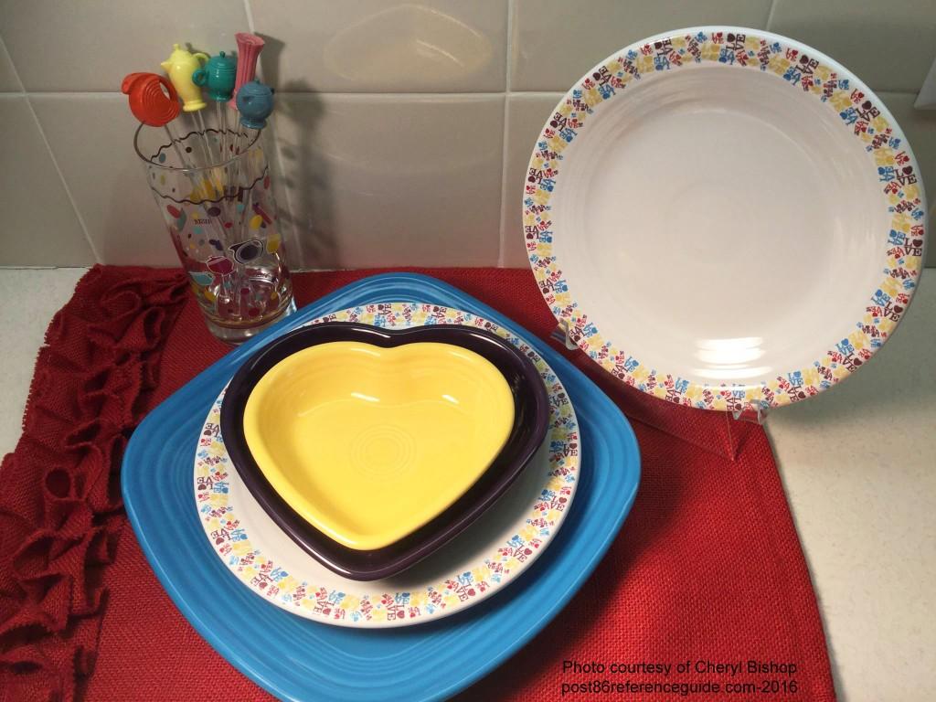 Fiesta Love - plates rg j