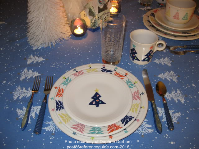 Christmas Tree May Co Post 86 Reference Guide - Fiesta Christmas Tree Dinnerware