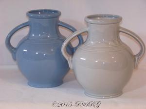 Fiesta® Millennium I Vases in Periwinkle & Pearl Gray
