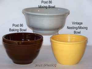 Fiesta® Mixing Baking Nesting Bowl Comparison