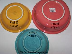 Fiesta® Nappie Bowl Comparison